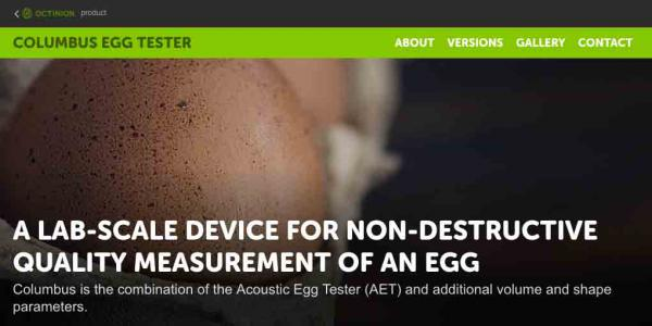 Mini site about the Columbus Egg Tester