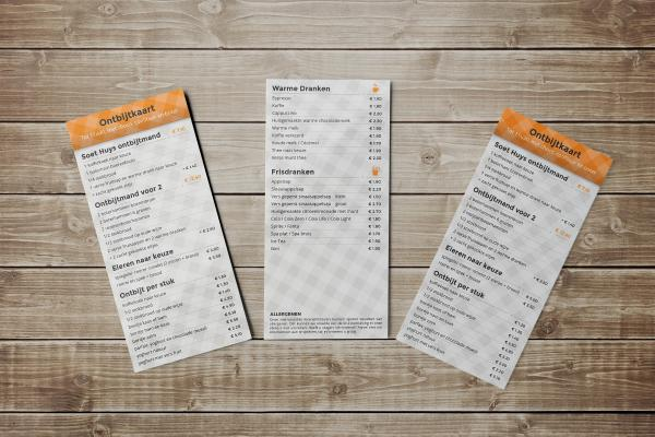 The breakfast menu